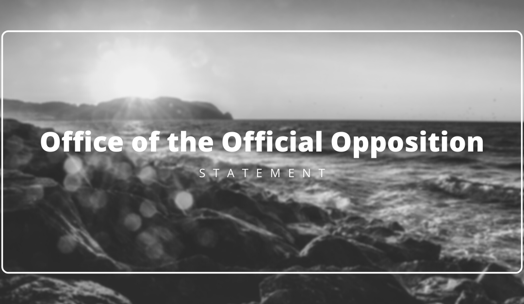 Official Opposition Statement on the passing of Nancy Guptill