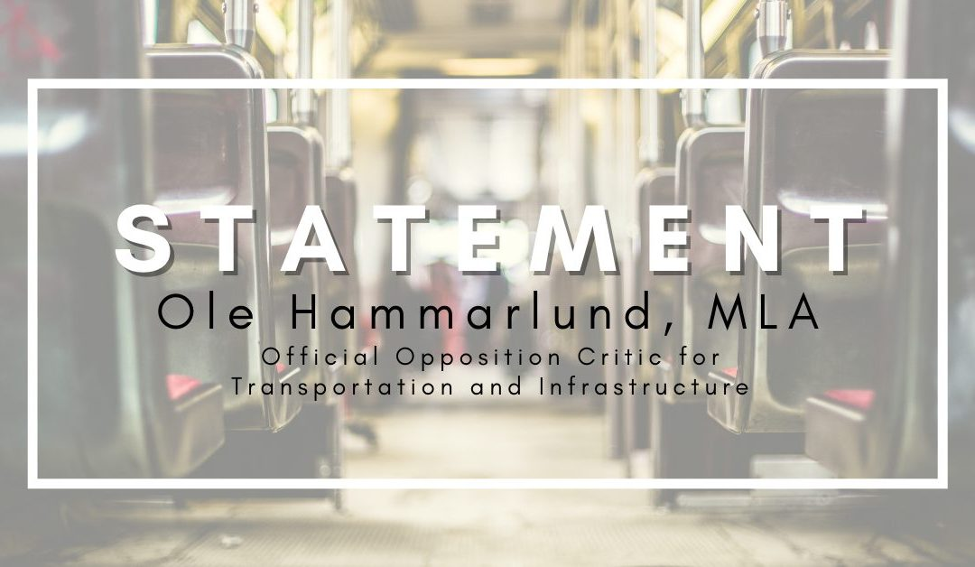 Statement on shortcoming in Island wide transit plan